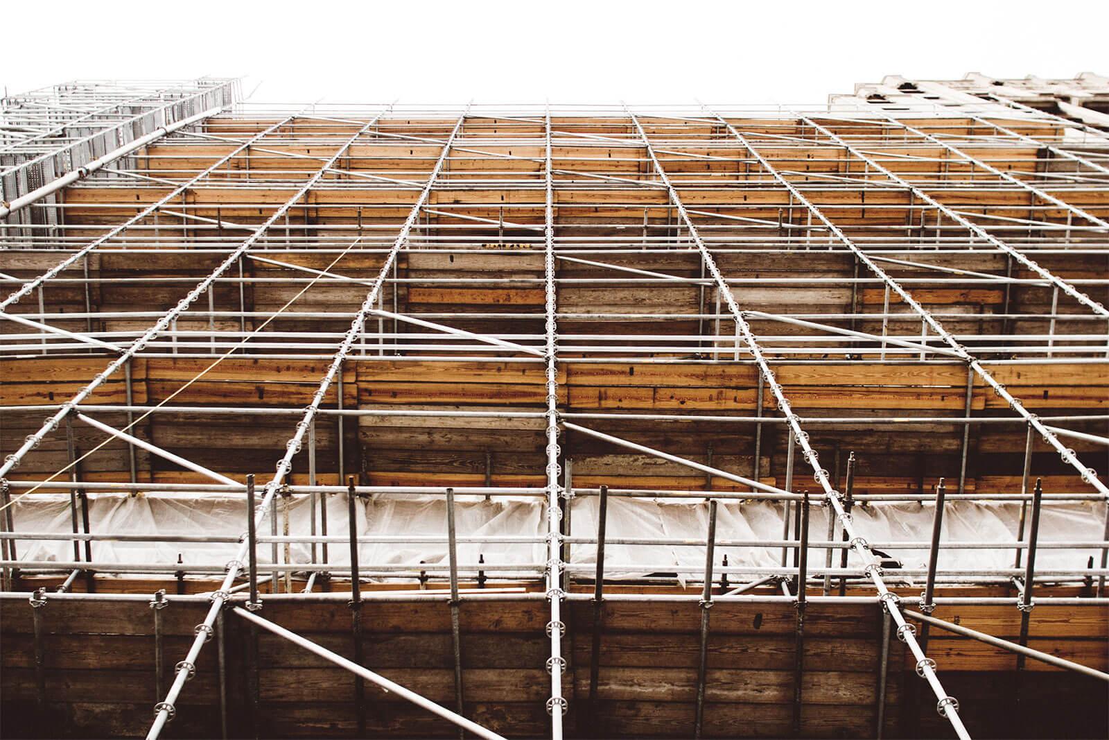Baureinigung einer Baustelle in Hanau